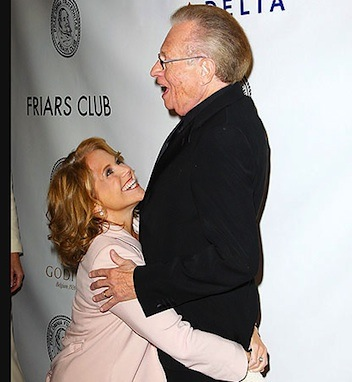 Katie Couric Larry King kiss