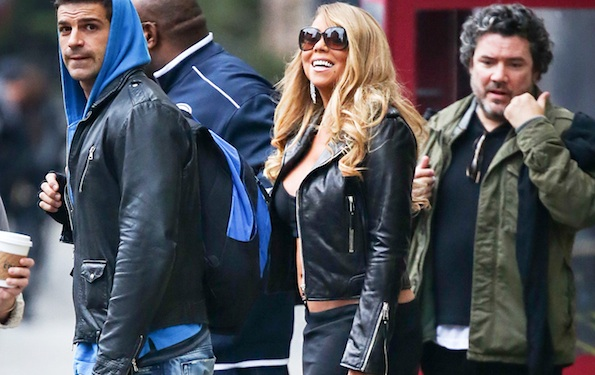 Mariah Carey tube top winter