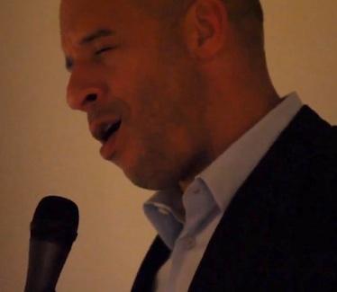 Vin Diesel singing