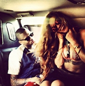 Chris Brown Rihanna instagram together