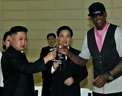Dennis Rodman Kim Jong Un drinking