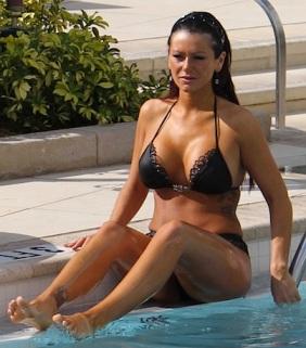 Jwoww black bikini
