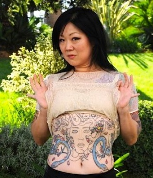 Margaret Cho stomach tat