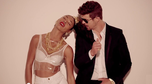Robin Thicke blurred lines girl