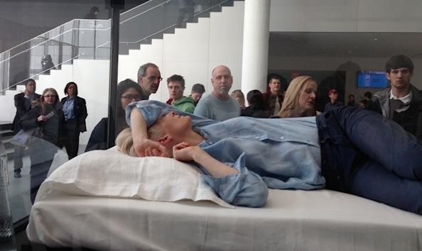 Tilda Swinton performance art