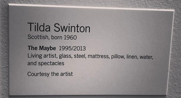 Tilda Swinton The Maybe