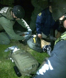 Boston bomber in custody