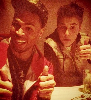 Chris Brown Justin Bieber instagram