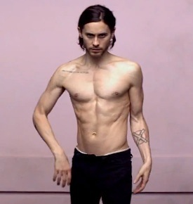 Jared Leto Shirtless Up In The air