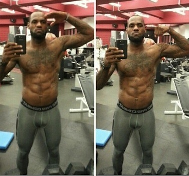 LeBron James six pack