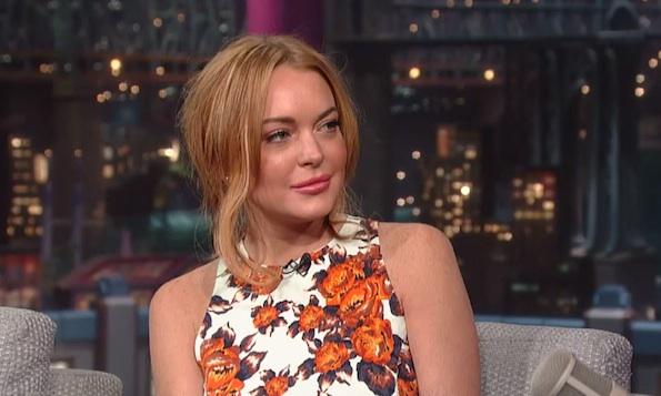 Lindsay Lohan David Letterman 2013