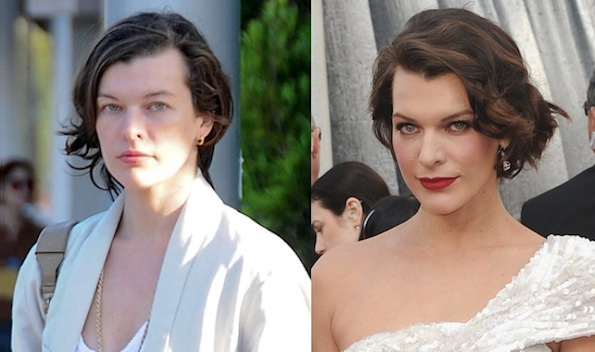 Milla Jovovich no makeup