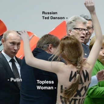 Putin topless women Germany