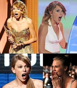 Taylor Swift surprise faces