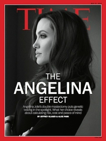 Angelina Jolie cancer cover
