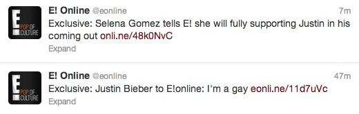 Justin bieber gay tweets