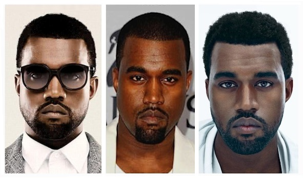Kanye West serious face