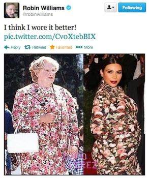 Kim Kardashian Mrs Doubtfire