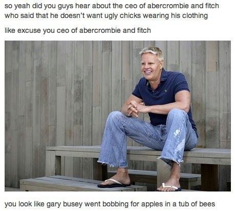 Mike Jeffries meme Gary Busey bees