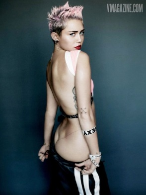 Miley Cyrus Butt V magazine