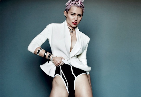 Miley Cyrus V Magazine underwear