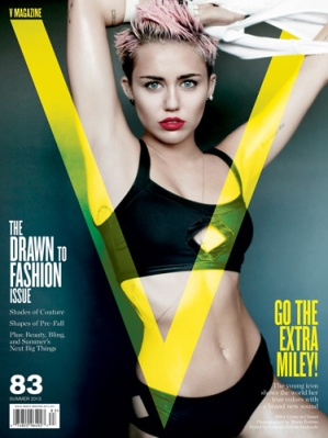 Miley V magazine cover 2013