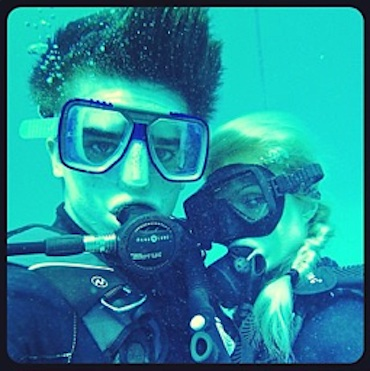 Paris Hilton scuba diving