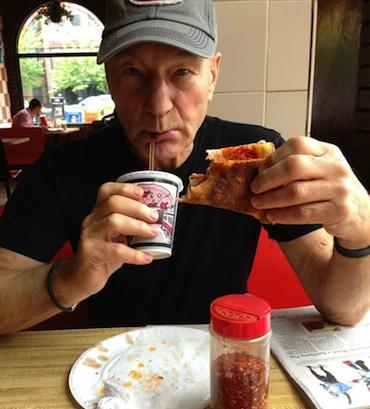 Patrick Stewart Pizza