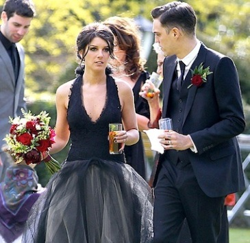 Shenae Grimes wedding dress