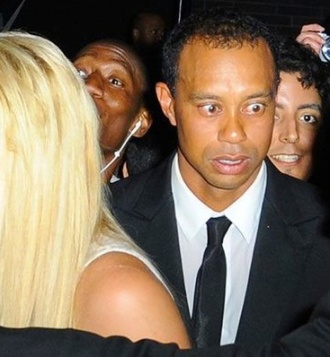 Tiger Woods drunk face