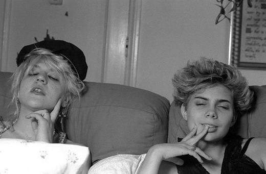 Photographic moment in history: The first time Courtney Love ever did heroin.