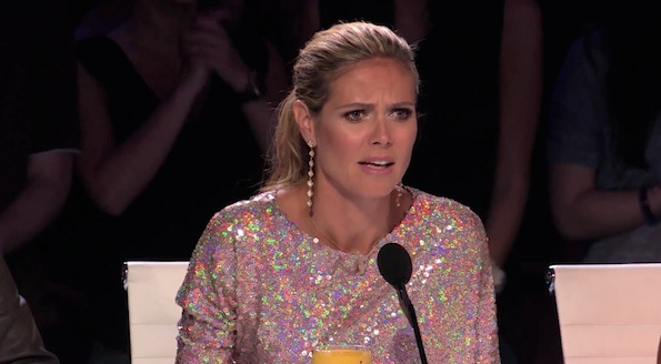 Heidi Klum face America's got talent