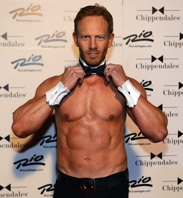Ian Ziering Chippendales dancer