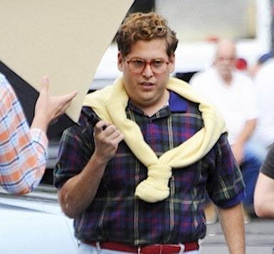 Jonah hill wolf on wall street on set behind the scenes
