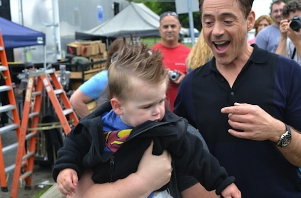 kid Robert Downey Jr crying
