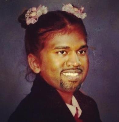 Kim and Kanye's baby meme