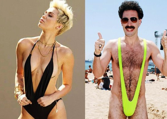 Miley cyrus borat swimsuit