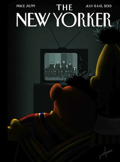 new yorker bert and ernie cover