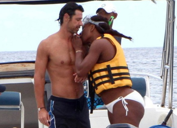 Serena Williams and her French coach/not--so-rumored butt-grabbing boyfriend, Patrick Mouratoglou