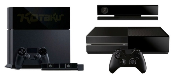 Playstation 4 xbox one side by side