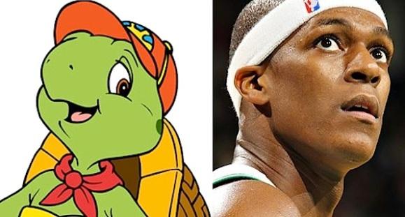 Rajon Rondo turtle