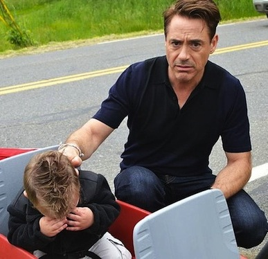 Robert Downey Jr kid crying