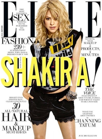 shakira elle magazine cover 2013