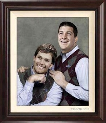 Tebow and Brady meme