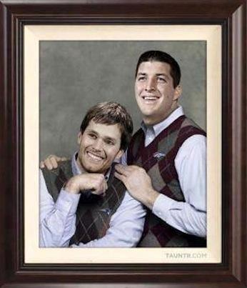 Tebow and Brady meme