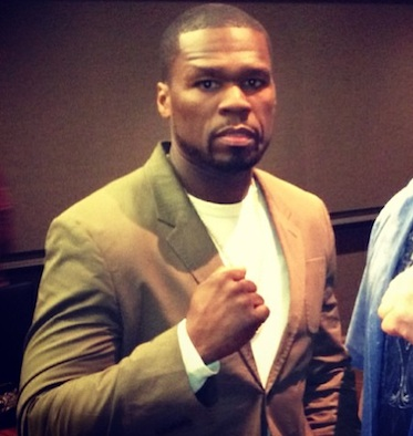 50 Cent boxing pose