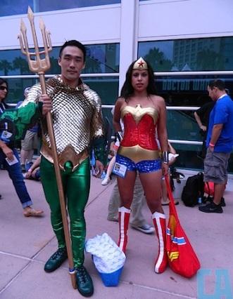 Aquaman and Wonderwoman