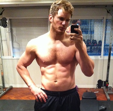 Chris Pratt shirtless instagram