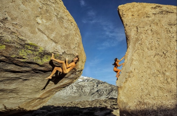 Daila Ojeda and Chris Sharma
