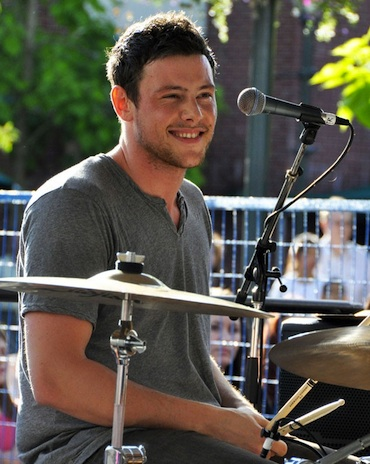 Cory Monteith drums
